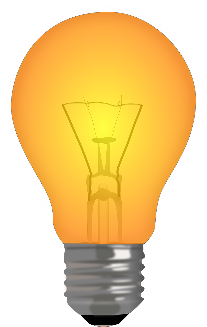 clipart of yellow lightbulb